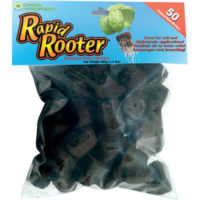 General Hydroponics Rapid Rooter Plugs 50/pack