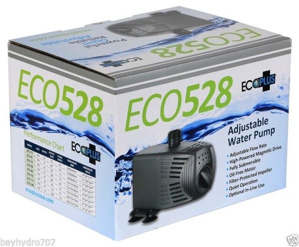 EcoPlus Adjustable Flow Submersible / Inline 528GPH Pump