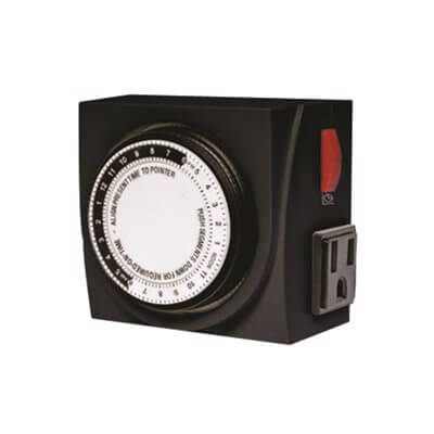 Timemaster 2 Outlet 120V Mechanical Timer