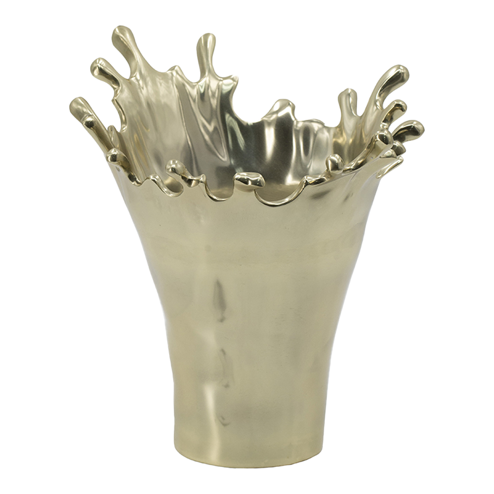 Gold Splatter Vase-Vase-Dwell Chic