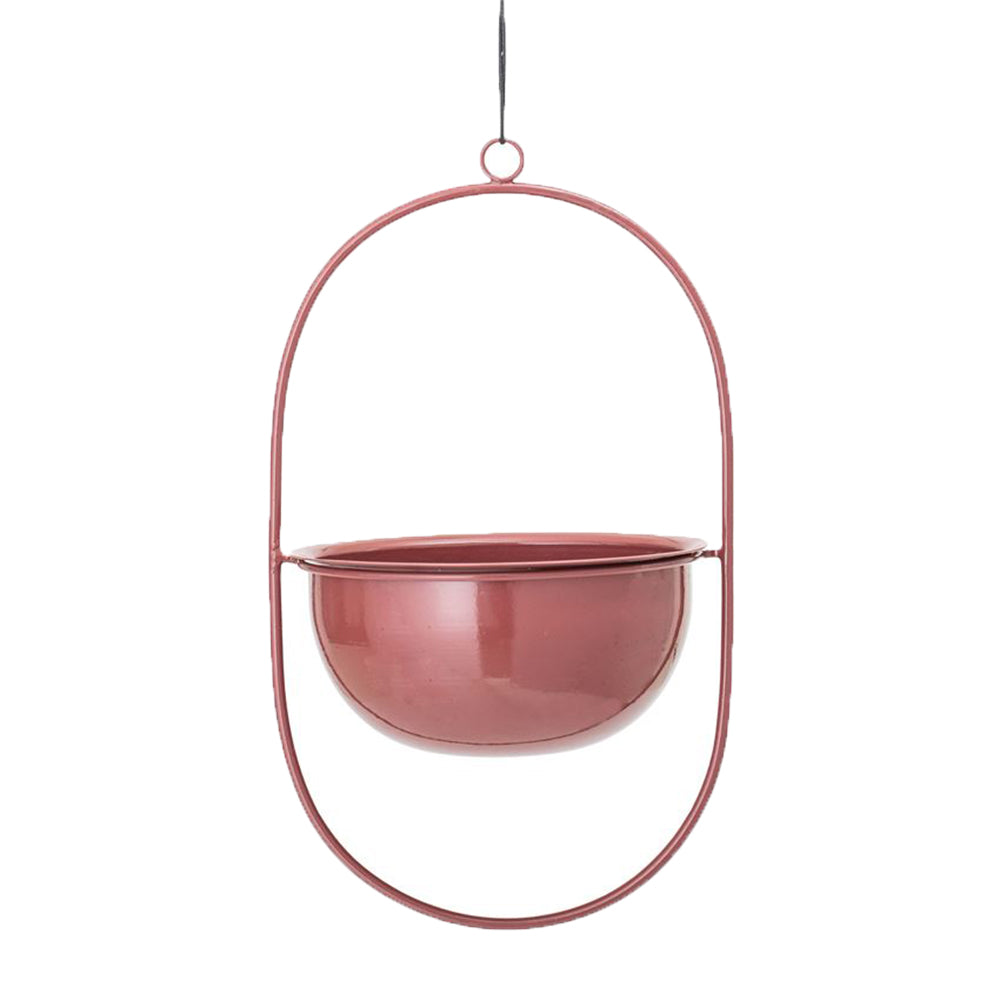 Enameled Hanging Planter