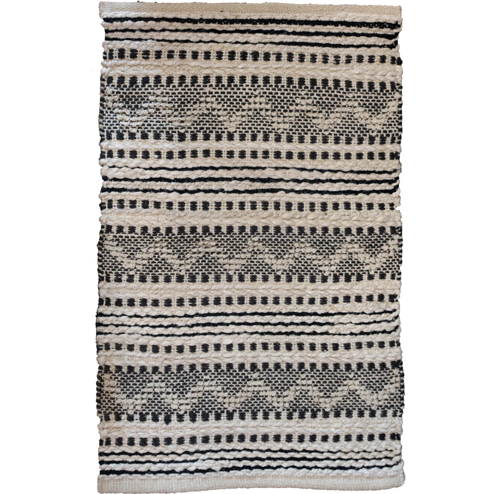 Black and Natural 2x3 Rug