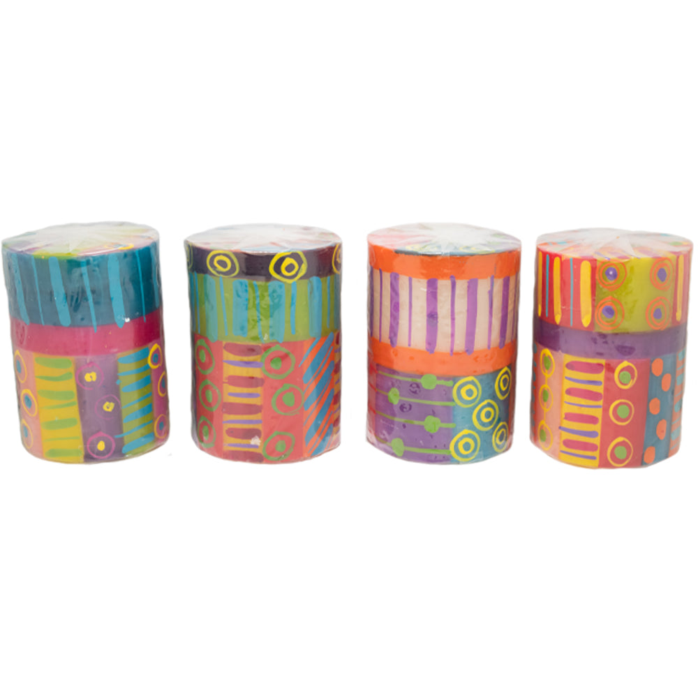 Dwell Chic-Whimsical Kaleidoscope Pillar Candle-Candle