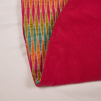 Pink, Orange, Green, and Blue Woven Tree Skirt