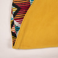 Dwell Chic-Pink, Yellow, Orange and Blue Cut Velvet Tree Skirt-Tree Skirt