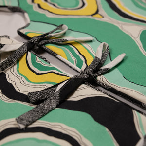 Green, Yellow and Black Patterned Tree Skirt
