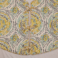 Green, Blue and Yellow Polka Dotted Tree Skirt