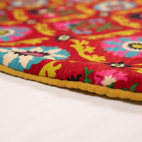 Dwell Chic-Red, Pink, Blue and Mustard Yellow Tree Skirt-Tree Skirt