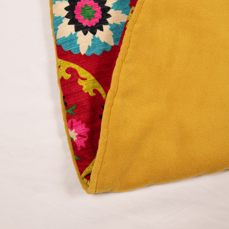 Red, Pink, Blue and Mustard Yellow Tree Skirt