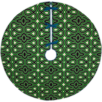 Dwell Chic-Black and Green Locking Keys Patterned Tree Skirt-Tree Skirt