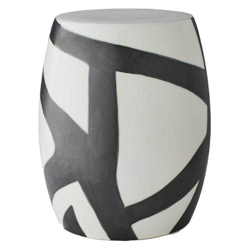 Abstract Ceramic Garden Stool