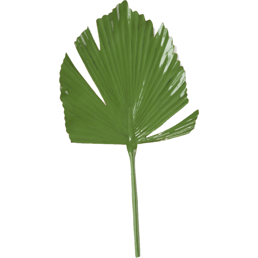 Aluminum Green Leaf Palm Decor