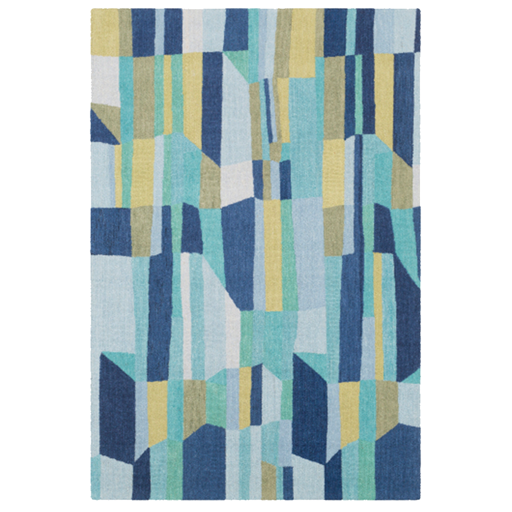 Dwell Chic-Blue and Green Technicolor Rug-Rug