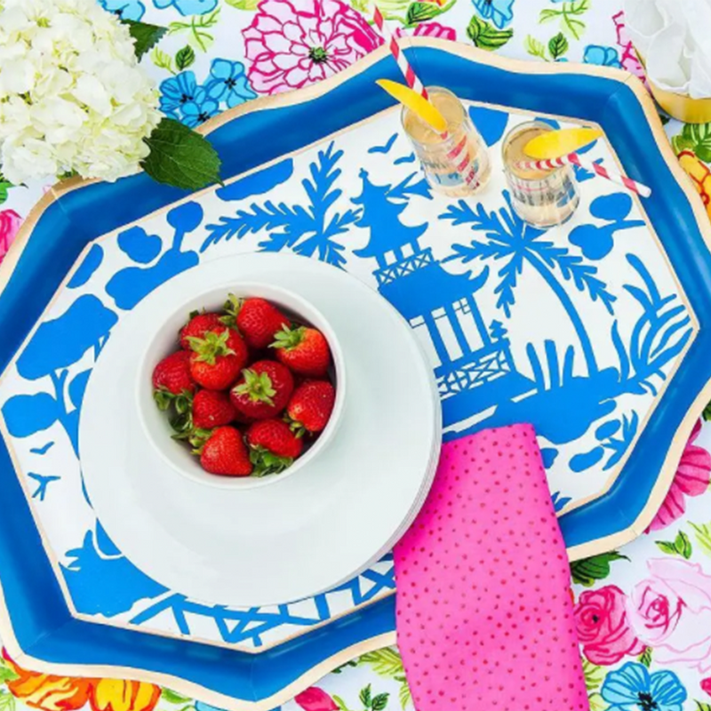 Dwell Chic-Blue Chinoiserie Tea Tray-Tray