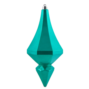 Dwell Chic-Teal Candy Diamond Drip Ornament-Ornament