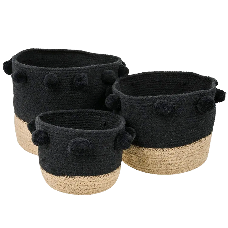 Dwell Chic-Color Block Jute Basket Set of 3-Basket