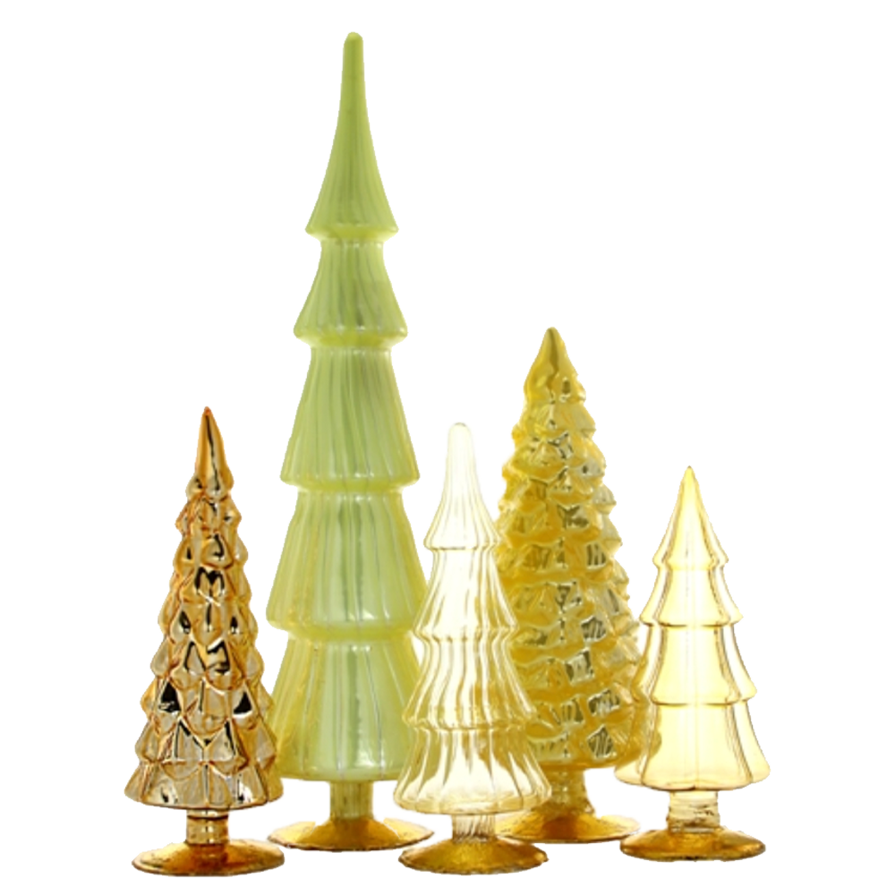 Dwell Chic-Color Me Sunshine Standing Glass Trees-Ornament
