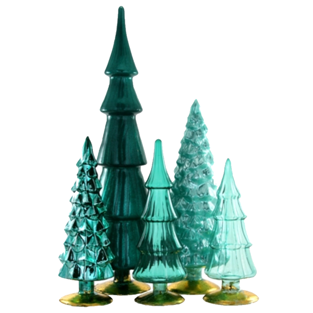Color Me Teal Standing Glass Trees