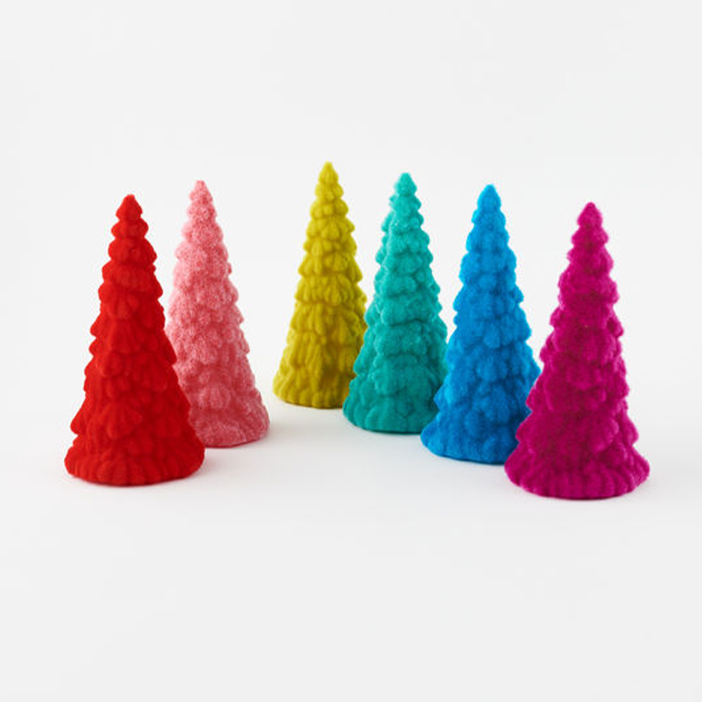 Colorful Felt Standing Trees Set of 6