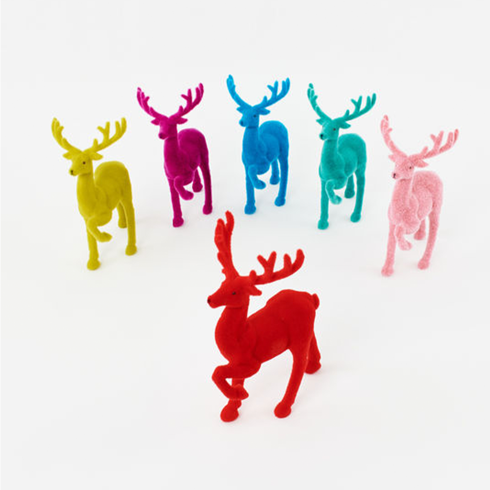 Dashing, Dancing and Prancing Colorful Deer Decor