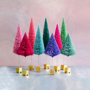 Extra Large Gold Base Colorful Sisal Tree Decoration