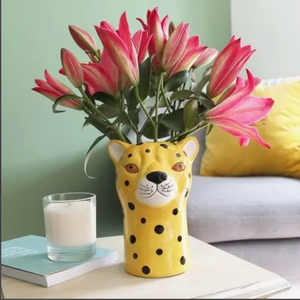 Dwell Chic-Fast Leopard Vase-Planter