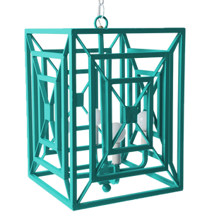 Dwell Chic-Geometric Sea Blue Chandelier-lighting