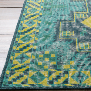 Green and Blue Aztec Rug