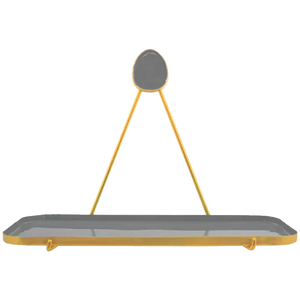 Grey Enamel Shelf Set