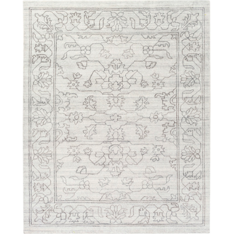 Dwell Chic-Ivory Floral Patterned Rug-Rug