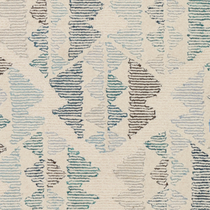 Dwell Chic-Light Blue and Brown Modern Rug-Rug