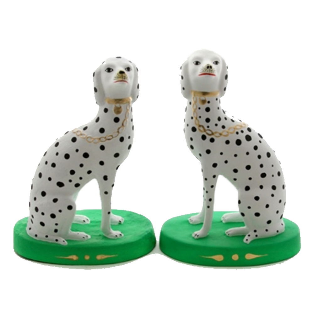 Matte Green Dalmatian Figurines