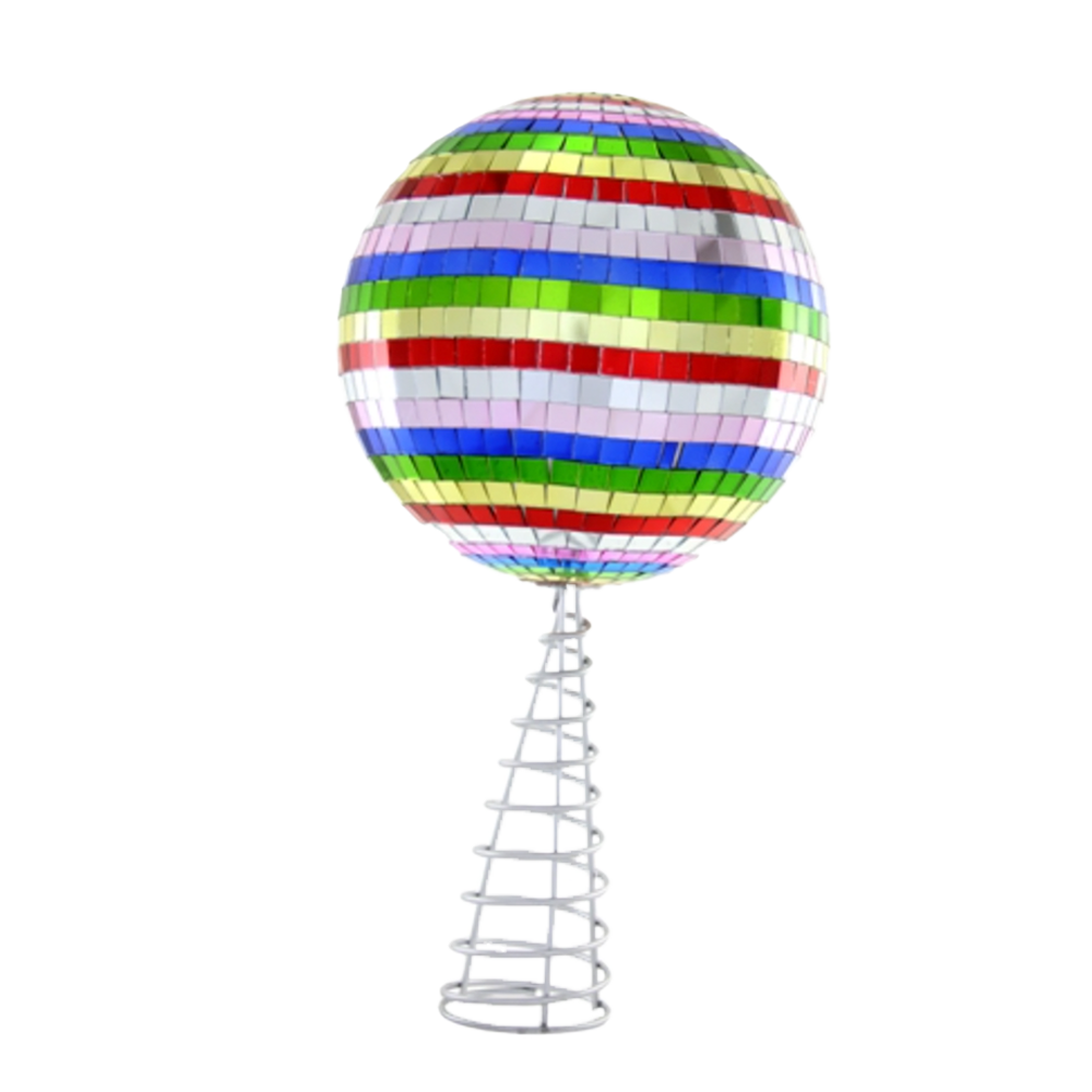 Dwell Chic-Meet Me At the Disco Multi-Colored Tree Topper-Ornament