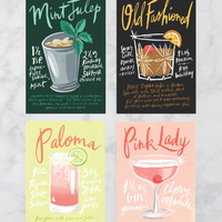 Dwell Chic-Mixologist Life Postcard Set-Accessories