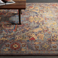 Multi-Color Abstract Print Wool Rug