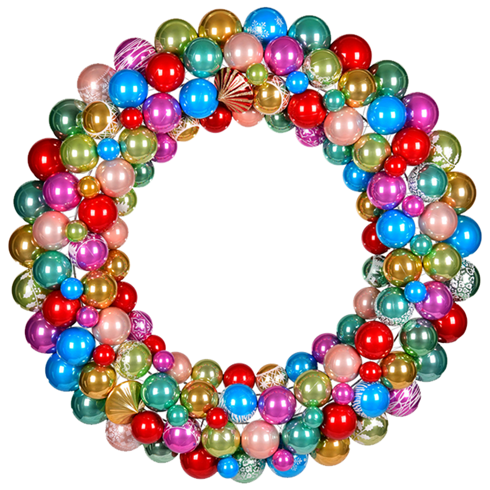 Multi-Color Ball Wreath