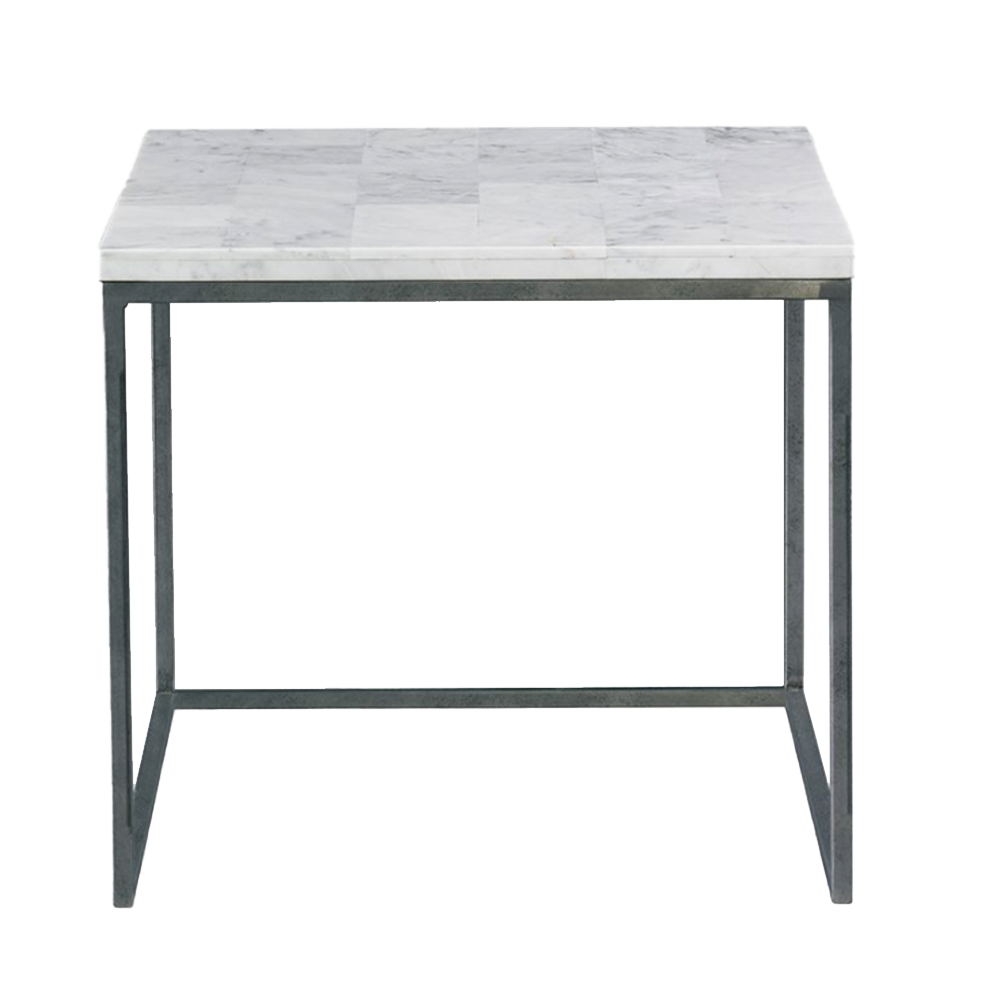 Dwell Chic-Natural White Stone Side Table- Pick up in Store Only-Furniture