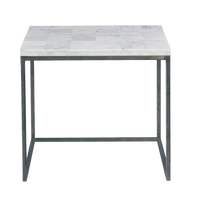 Natural White Stone Side Table- Pick up in Store Only