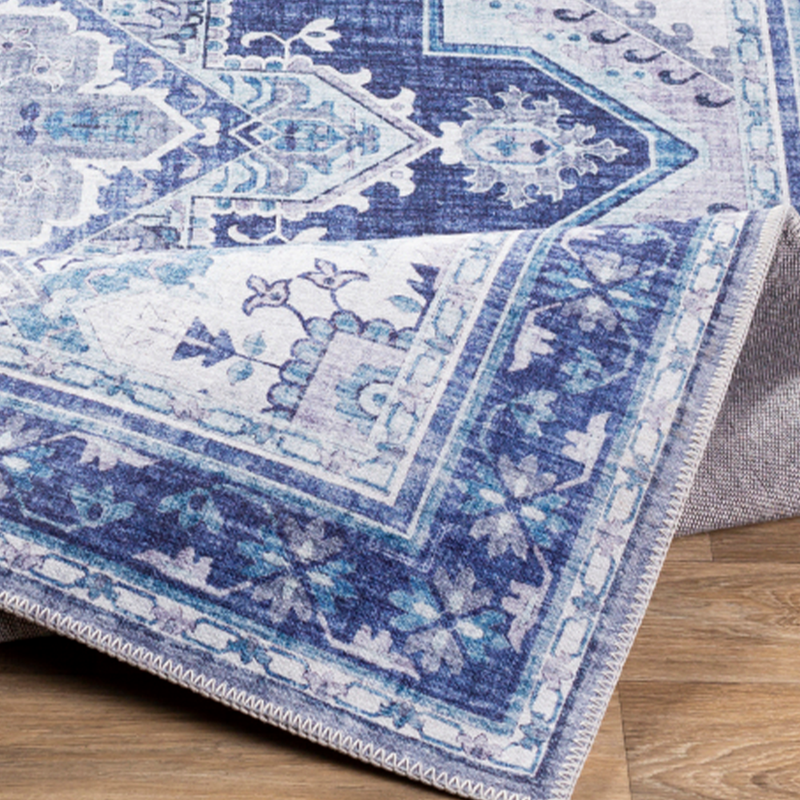 Dwell Chic-Navy and Ivory Turkish Inspired Rug-Rug