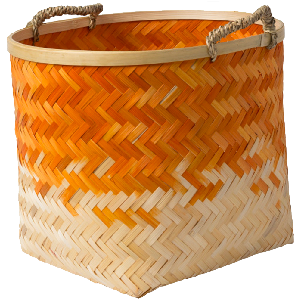 Dwell Chic-Orange Ombre Bamboo Basket-Basket