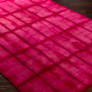 Pink and Red Checked Rug