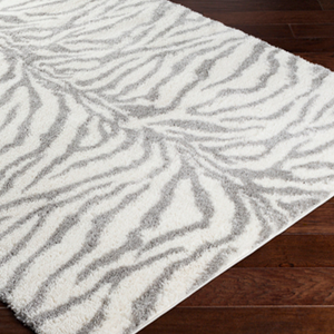 Plush Zebra Patterned Rug