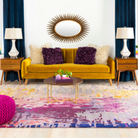 Dwell Chic-Purple Patterned Shimmer Rug-Rug