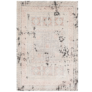 Rose and Cream Aztec Inspired Rug