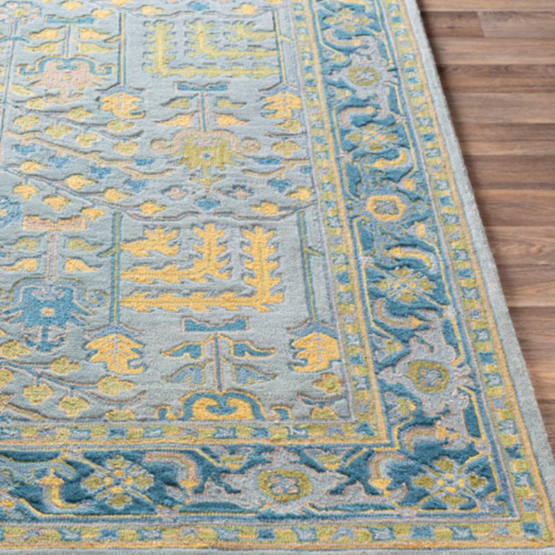 Dwell Chic-Sage and Teal Aztec Rug-Rug