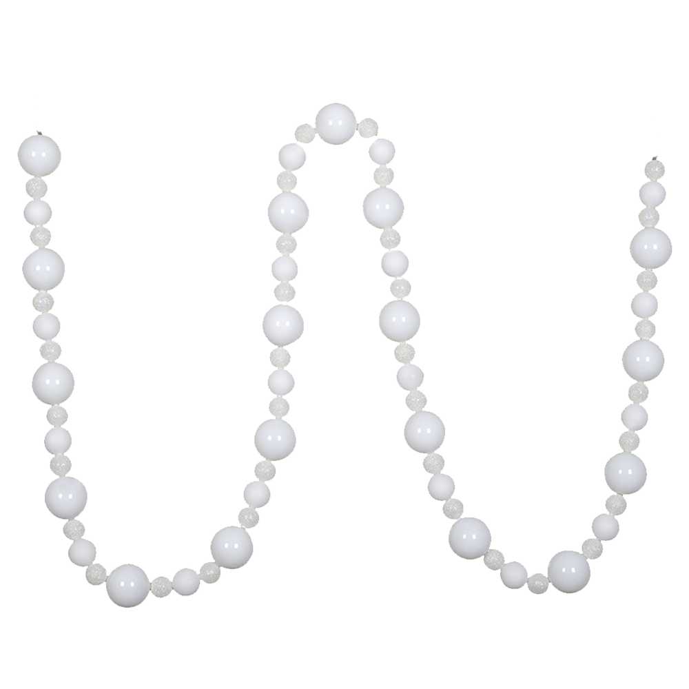 Dwell Chic-Shiny White Garland-Ornament