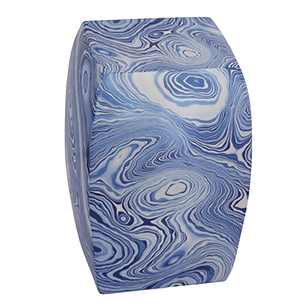 Dwell Chic-Swirled Blue and White Stool-Garden Stool