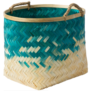 Dwell Chic-Teal Ombre Bamboo Basket-Basket