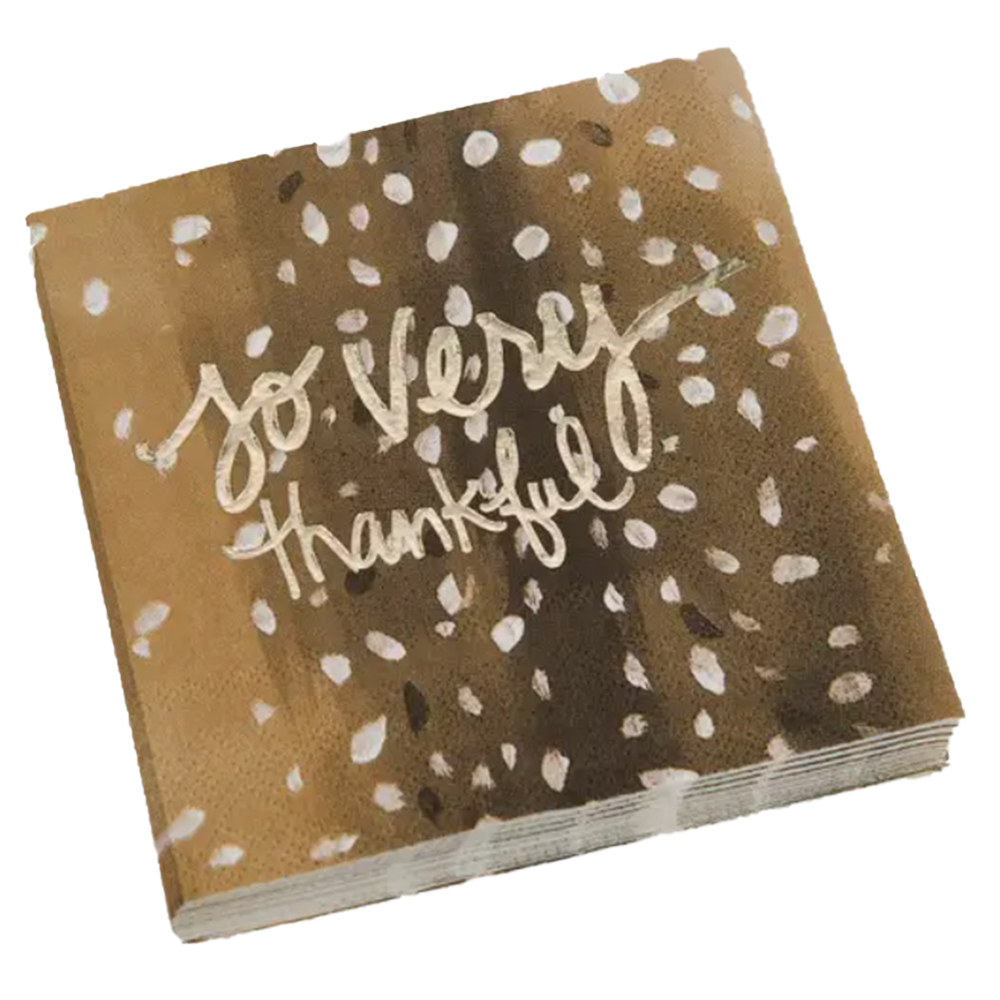 Dwell Chic-The Most Thankful Cocktail Napkin-Cocktail Napkin