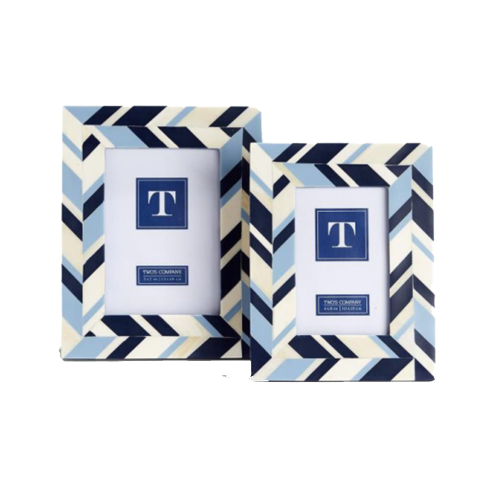 Dwell Chic-We've Got the Blues Inlay Photo Frames-Picture Frame